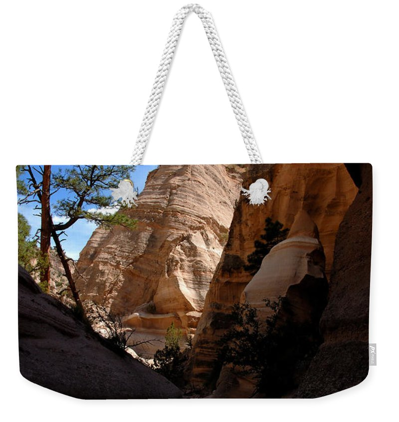 Tent Rocks Wilderness New Mexico Weekender Tote Bag featuring the photograph Tent Rocks Canyon by David Lee Thompson