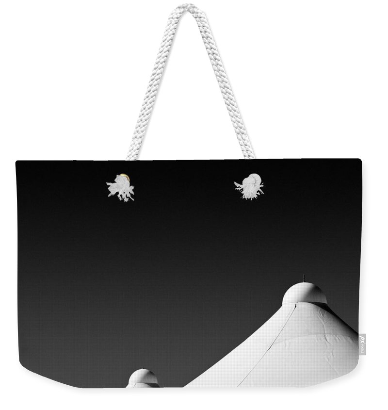 Tent Tops Weekender Tote Bag featuring the photograph Tent Tops by Dave Bowman