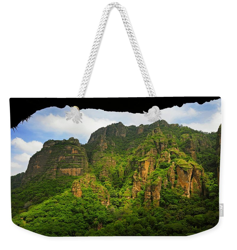 Skip Hunt Weekender Tote Bag featuring the photograph Tepozteco by Skip Hunt