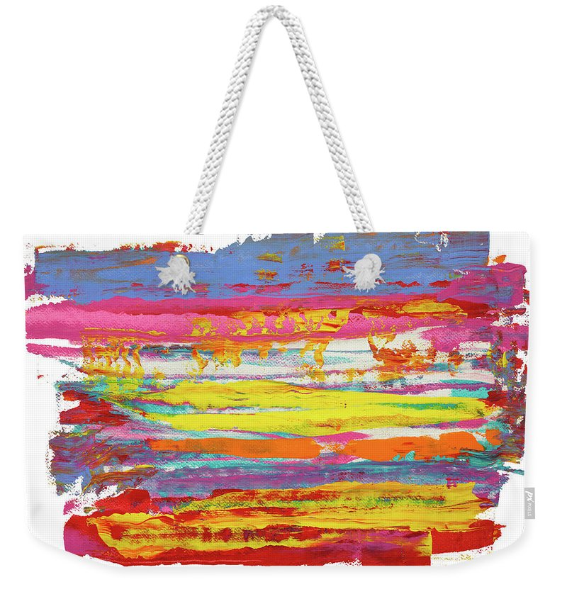 Contemporary Weekender Tote Bag featuring the painting Tequila Sunrise by Bjorn Sjogren