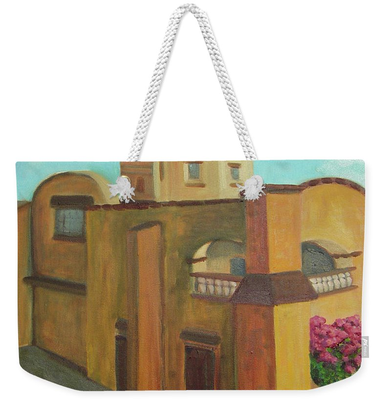 Cathedral Weekender Tote Bag featuring the painting Tercera Orden by Lilibeth Andre