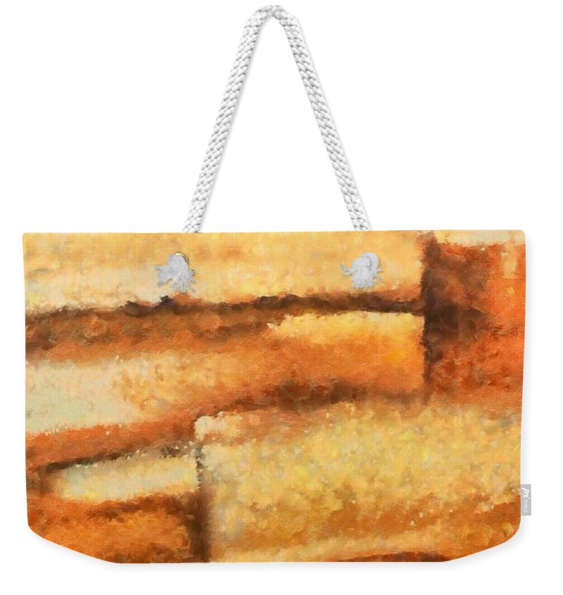 Mixed Media Weekender Tote Bag featuring the mixed media Terra Rossa by Dragica Micki Fortuna