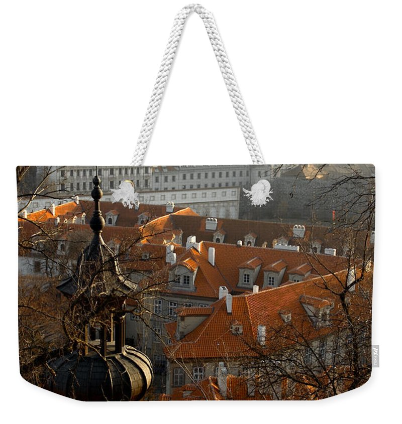 Lawrence Weekender Tote Bag featuring the photograph Terracotta Crowns by Lawrence Boothby