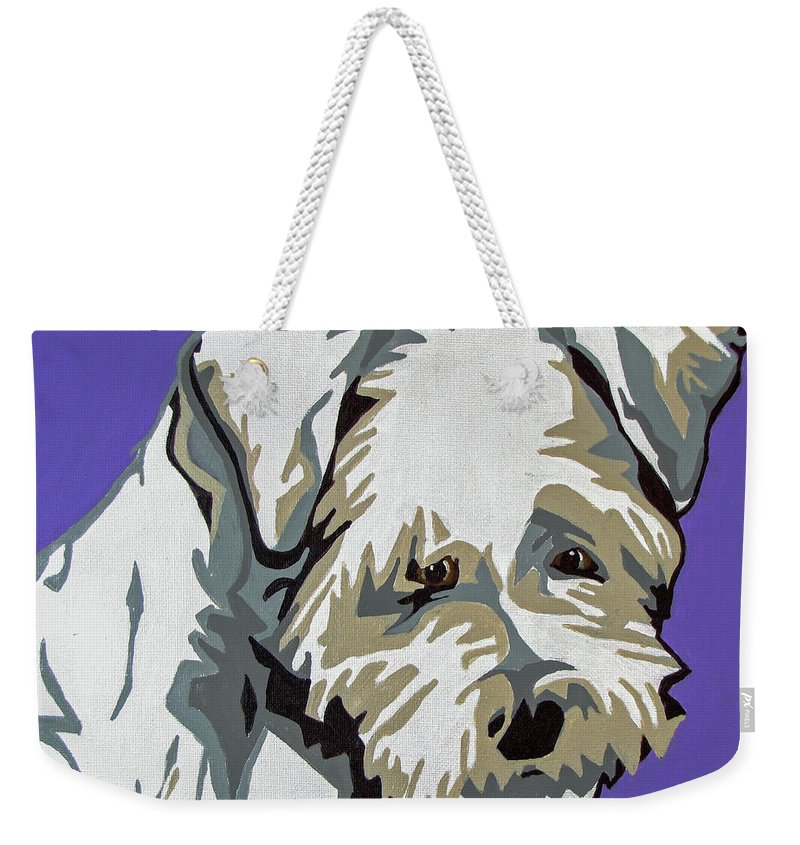 Terrier Weekender Tote Bag featuring the painting Terrier Mix by Slade Roberts