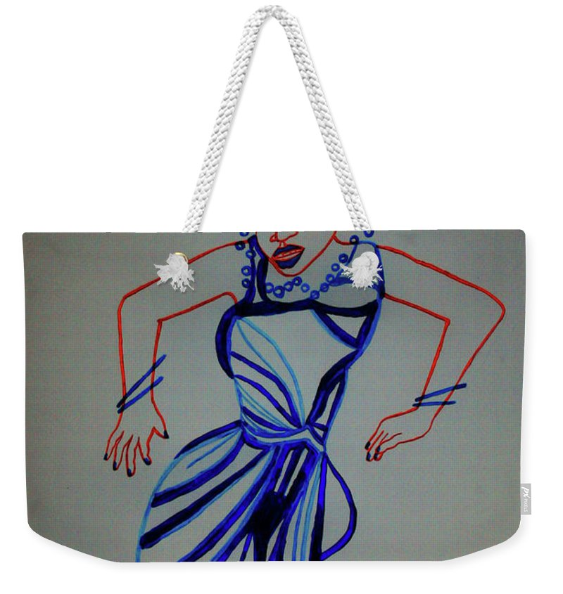 Jesus Weekender Tote Bag featuring the painting Teso Traditional Dance Uganda by Gloria Ssali