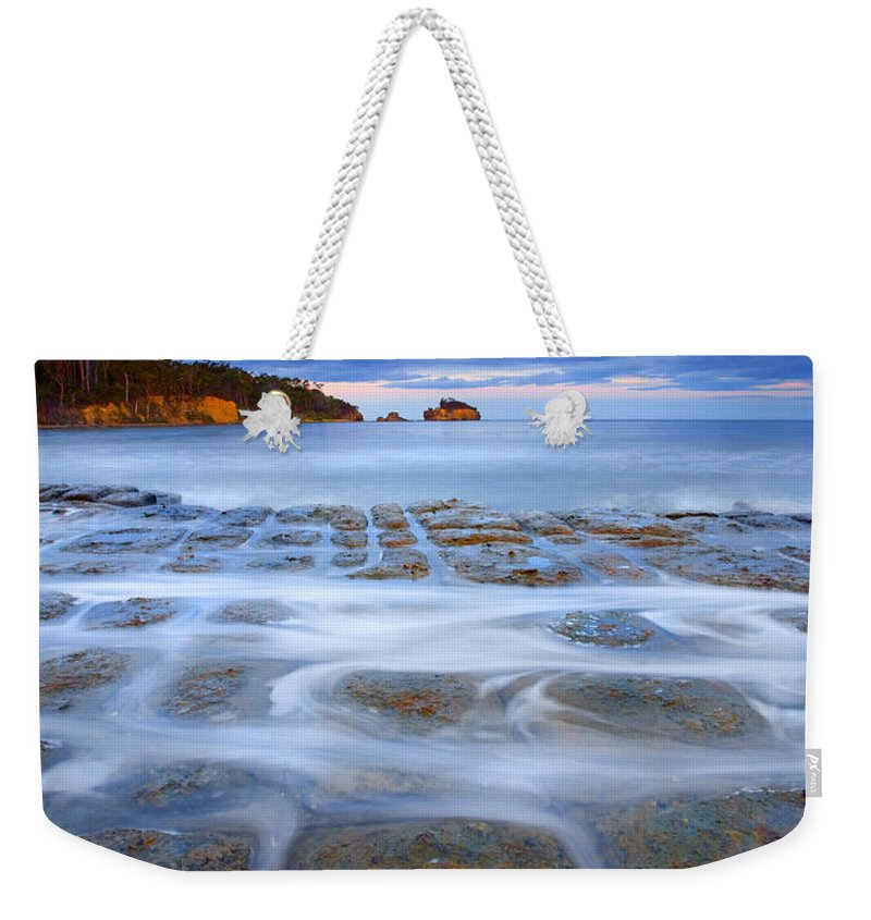 Sunset Weekender Tote Bag featuring the photograph Tesselated Sunset by Mike Dawson