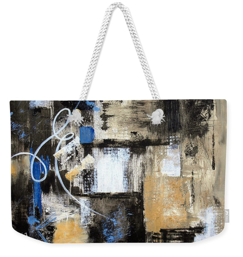 Abstract Weekender Tote Bag featuring the painting Testing The Waters by Ruth Palmer