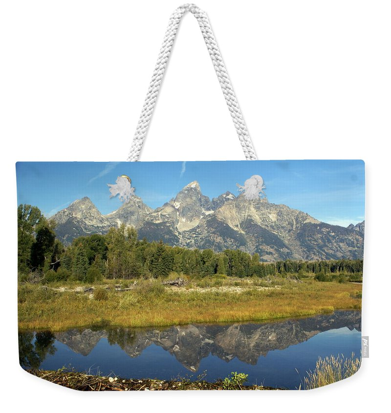 Grand Teton National Park Weekender Tote Bag featuring the photograph Teton 5 by Marty Koch