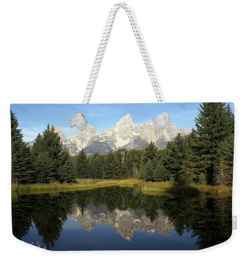 Grand Teton National Park Weekender Tote Bag featuring the photograph Teton 6 by Marty Koch