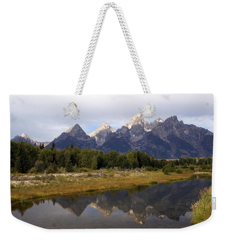 Grand Teton National Park Weekender Tote Bag featuring the photograph Teton 7 by Marty Koch
