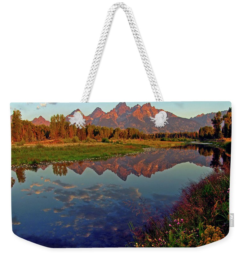 Mountains Weekender Tote Bag featuring the photograph Teton Wildflowers by Scott Mahon