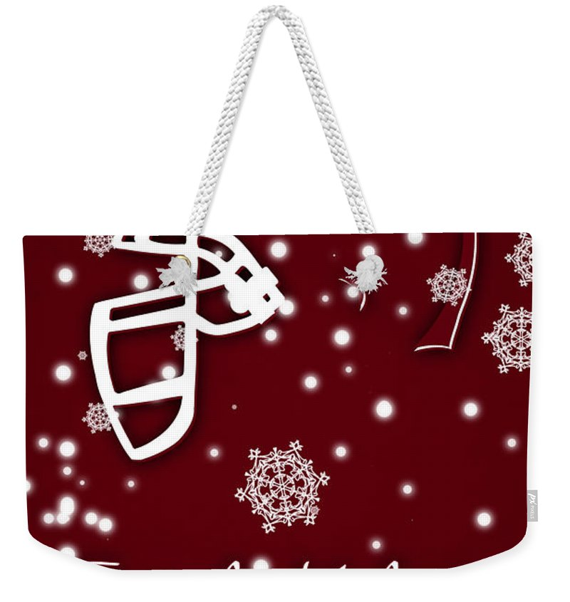 Texas A&m Aggies Weekender Tote Bag featuring the photograph Texas Am Aggies Christmas Card by Joe Hamilton