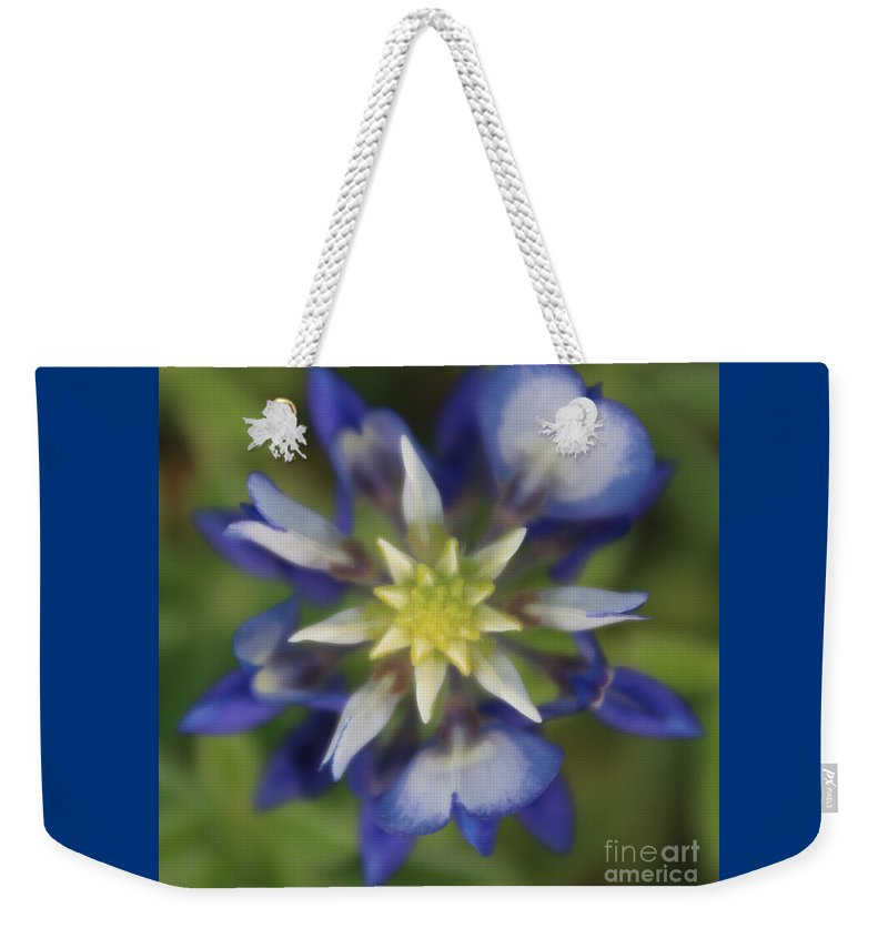 Bluebonnet Weekender Tote Bag featuring the photograph Texas Bluebonnet by Amy Steeples