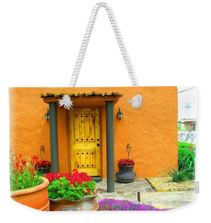 Adobe Weekender Tote Bag featuring the photograph Texas Fiesta-style by Gale Cochran-Smith