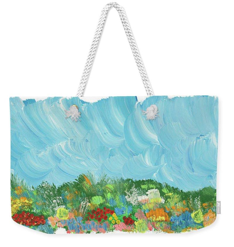 Landscape Weekender Tote Bag featuring the painting Texas Roadside by Bjorn Sjogren