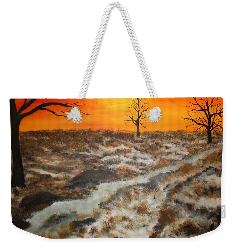 Desert Weekender Tote Bag featuring the painting Texas Sunshine by Mark Prescott Crannell