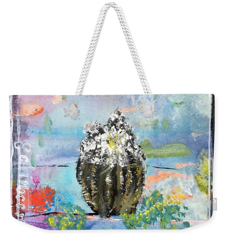 Series Weekender Tote Bag featuring the painting Texas Wildflowers Tp A D by Michael Dillon