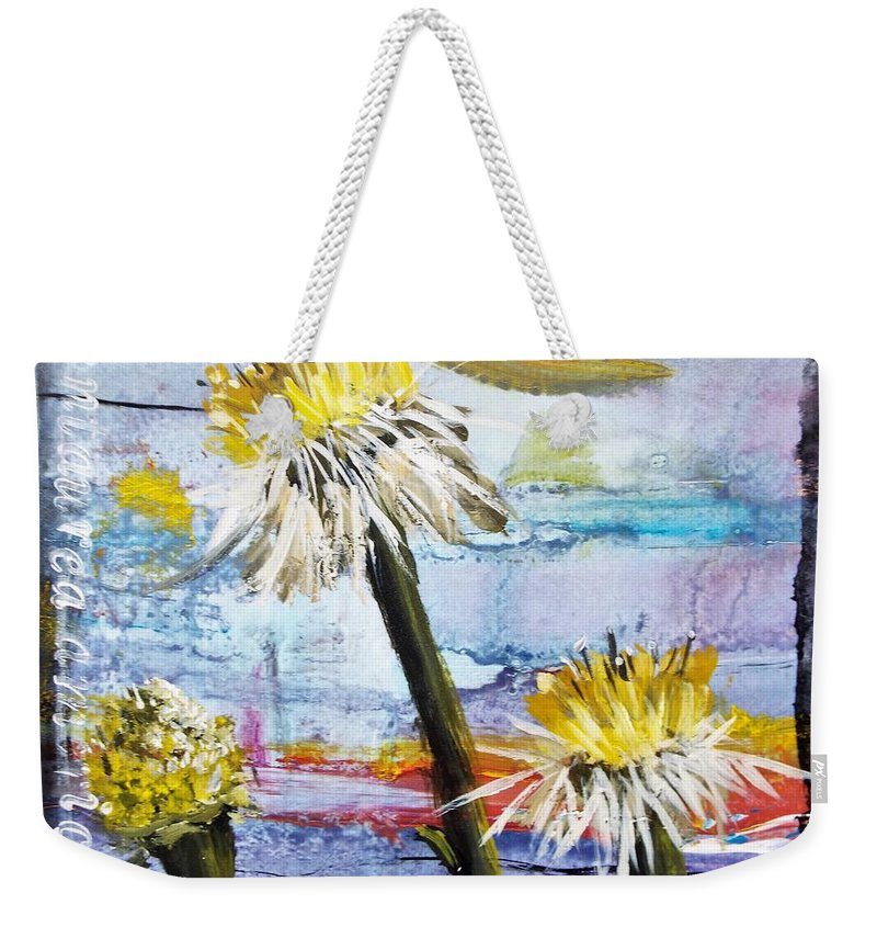 Series Weekender Tote Bag featuring the painting Texas Wildflowers Tp A E by Michael Dillon