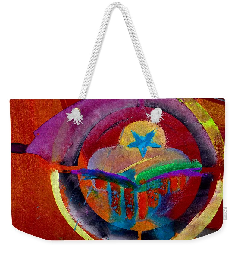 Button Weekender Tote Bag featuring the painting Texicana by Charles Stuart