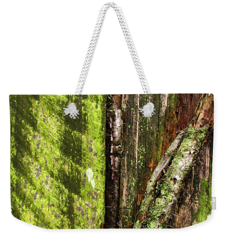 Texture Weekender Tote Bag featuring the photograph Texture Series by Amanda Barcon