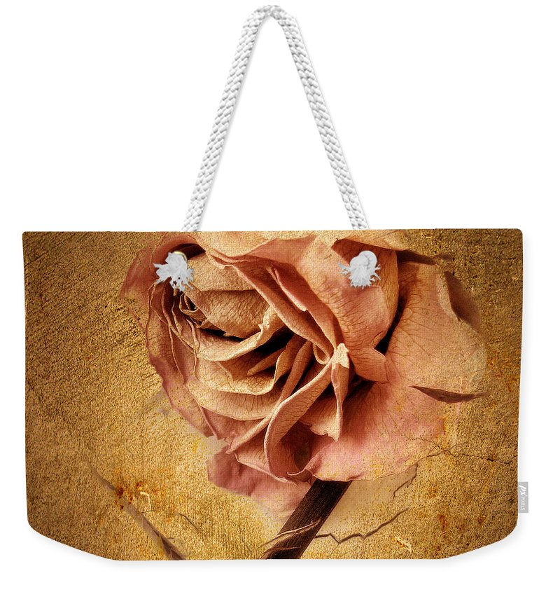 Flower Weekender Tote Bag featuring the photograph Textured Rose by Jessica Jenney