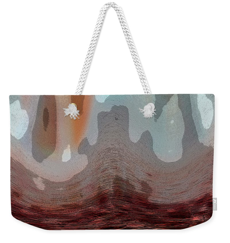 Abstracts Weekender Tote Bag featuring the digital art Textured Waves by Linda Sannuti
