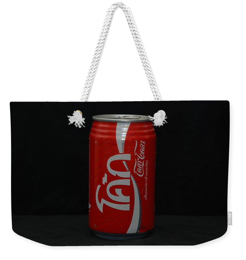 White Weekender Tote Bag featuring the photograph Thai Coke by Rob Hans