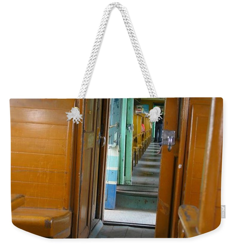 Train Weekender Tote Bag featuring the photograph Thailand Train by Minaz Jantz