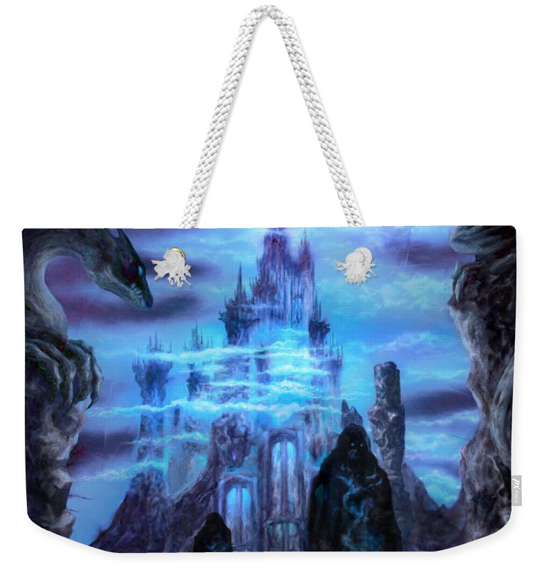 Tolkien Weekender Tote Bag featuring the mixed media Thangorodrim by Curtiss Shaffer