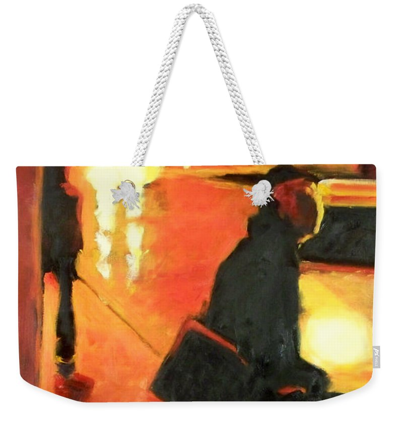 Rob Weekender Tote Bag featuring the painting That First Step by Robert Reeves