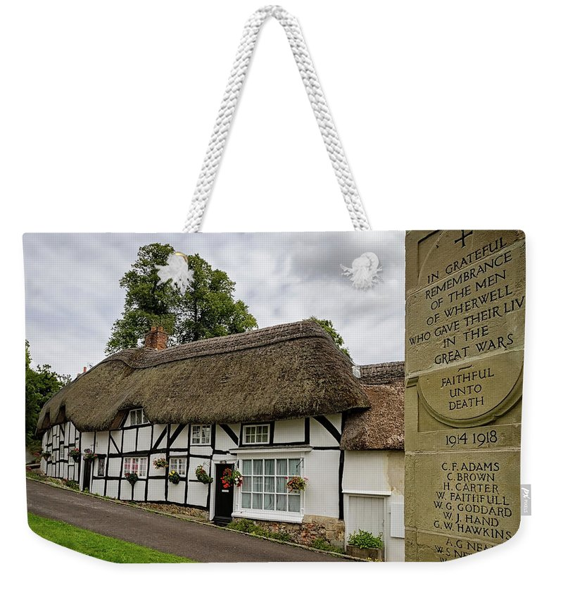 Cottage Weekender Tote Bag featuring the photograph Thatched Cottages Of Hampshire 12 by Shirley Mitchell