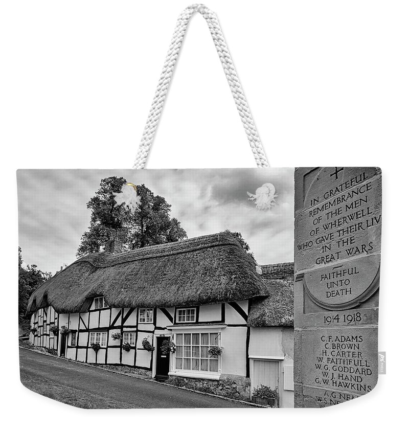 Cottage Weekender Tote Bag featuring the photograph Thatched Cottages Of Hampshire 13 by Shirley Mitchell