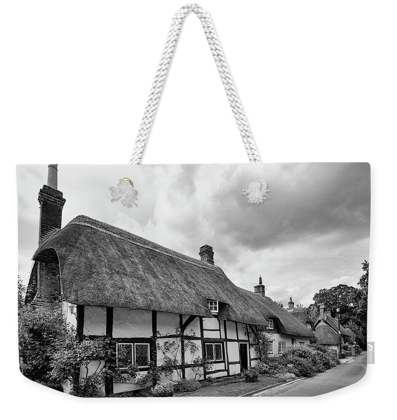 Cottage Weekender Tote Bag featuring the photograph Thatched Cottages Of Hampshire 15 by Shirley Mitchell