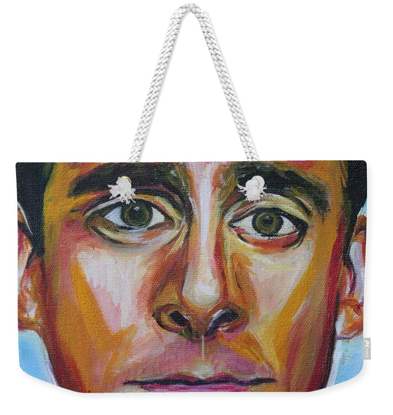 That's What She Said Weekender Tote Bag featuring the painting That's What She Said by Kate Fortin