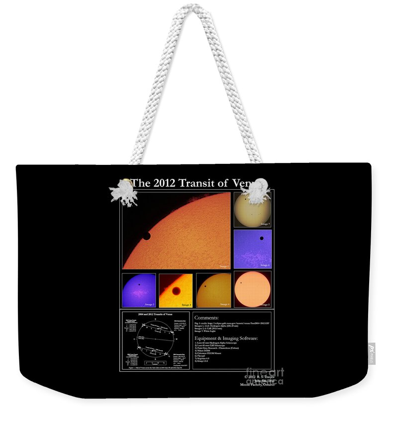 Sun Weekender Tote Bag featuring the photograph The 2012 Transit Of Venus by Robert Davies