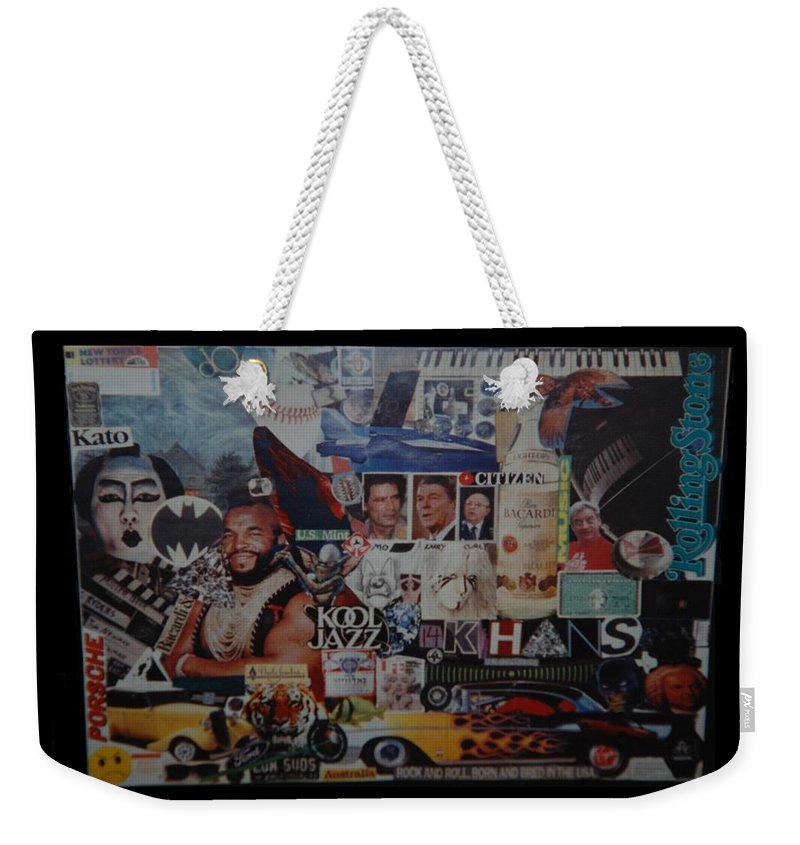 Abstract Weekender Tote Bag featuring the photograph The 80 S Collage by Rob Hans