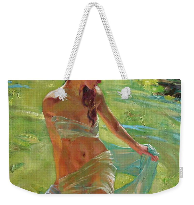 Ignatenko Weekender Tote Bag featuring the painting The allegory of summer by Sergey Ignatenko