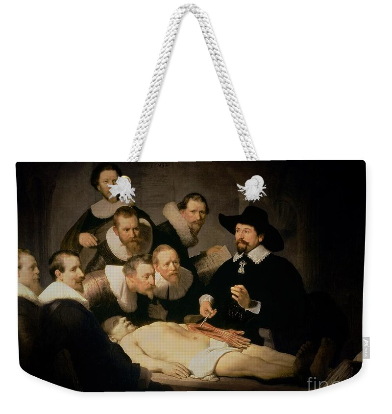 The Anatomy Lesson Of Doctor Nicolaes Tulp Weekender Tote Bag for ...