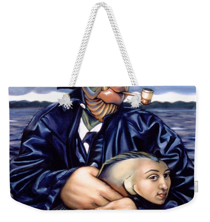 Fisherman Weekender Tote Bag featuring the painting The Ancient Mariner by Patrick Anthony Pierson