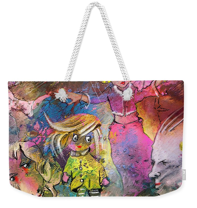 Fantasy Weekender Tote Bag featuring the painting The Angry Father by Miki De Goodaboom