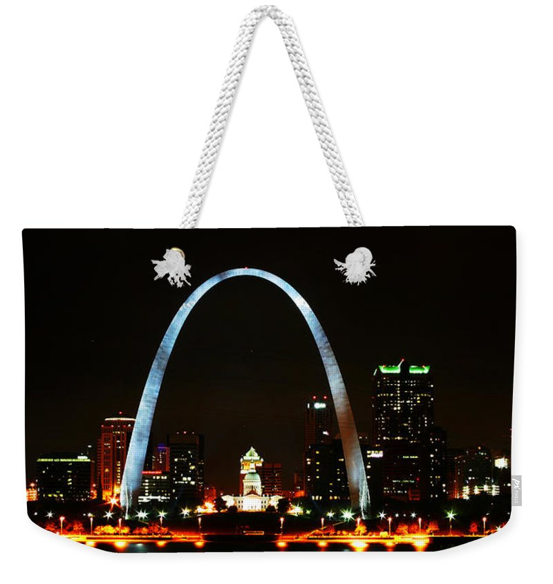 St Louis Weekender Tote Bag featuring the photograph The Arch by Anthony Jones