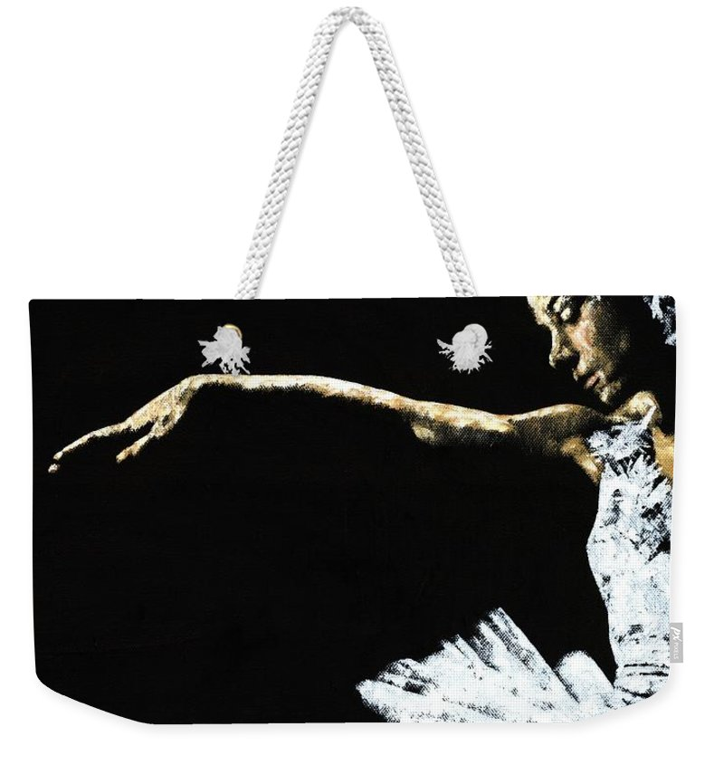 Ballet Weekender Tote Bag featuring the painting The Art Of Grace by Richard Young