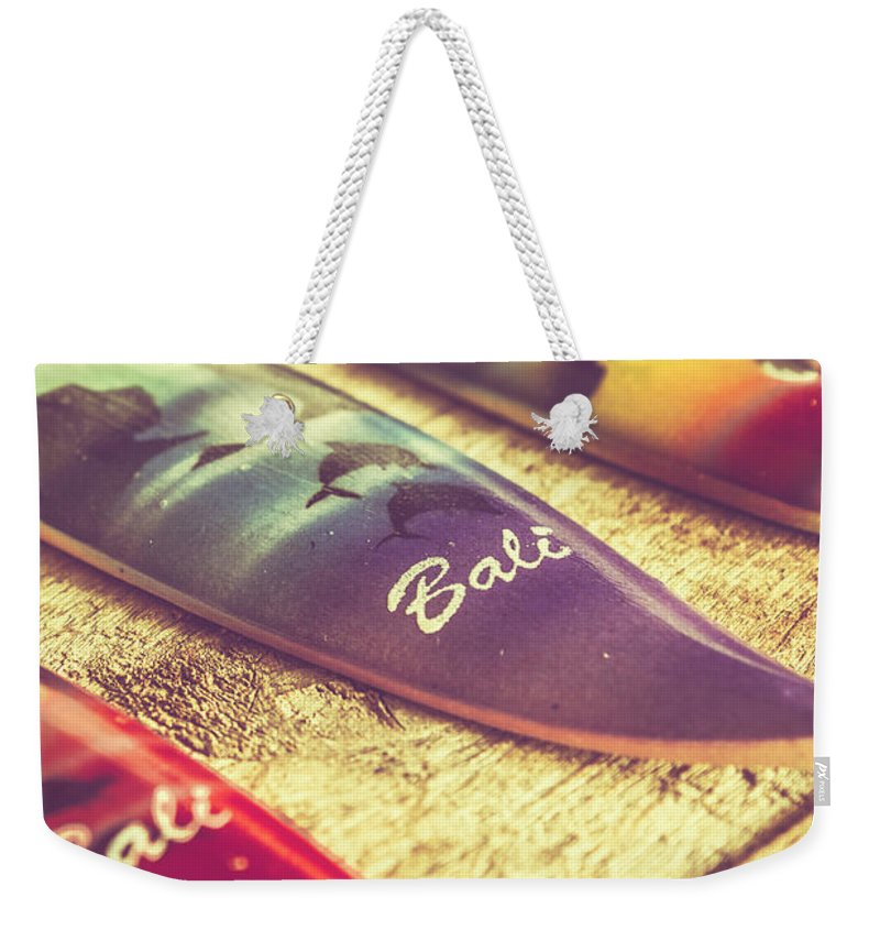 Board Weekender Tote Bag featuring the photograph The Art Of Surf by Jorgo Photography - Wall Art Gallery