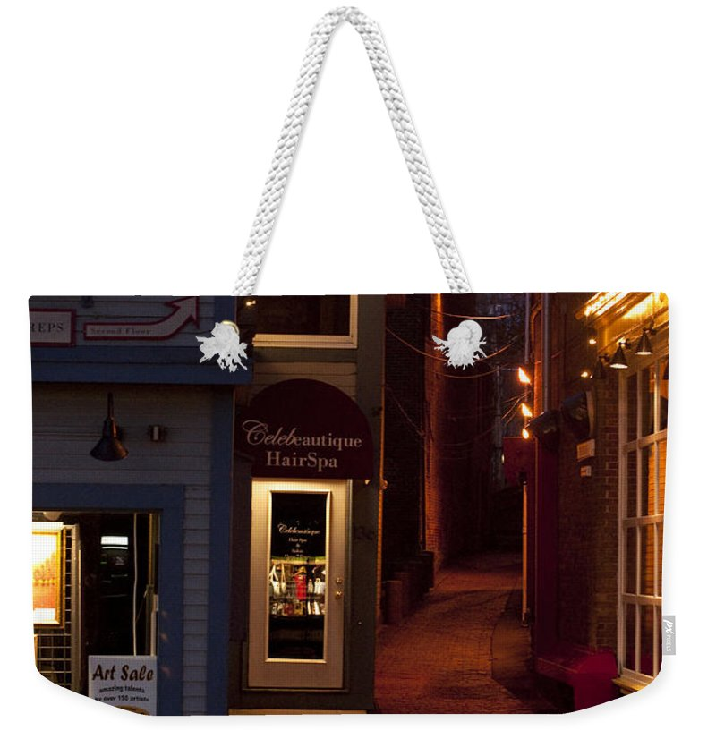 Art Sale Weekender Tote Bag featuring the photograph The Art Sale by Steven Natanson