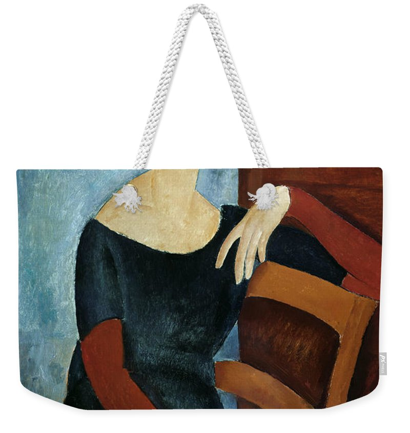 The Weekender Tote Bag featuring the painting The Artist's Wife by Amedeo Modigliani