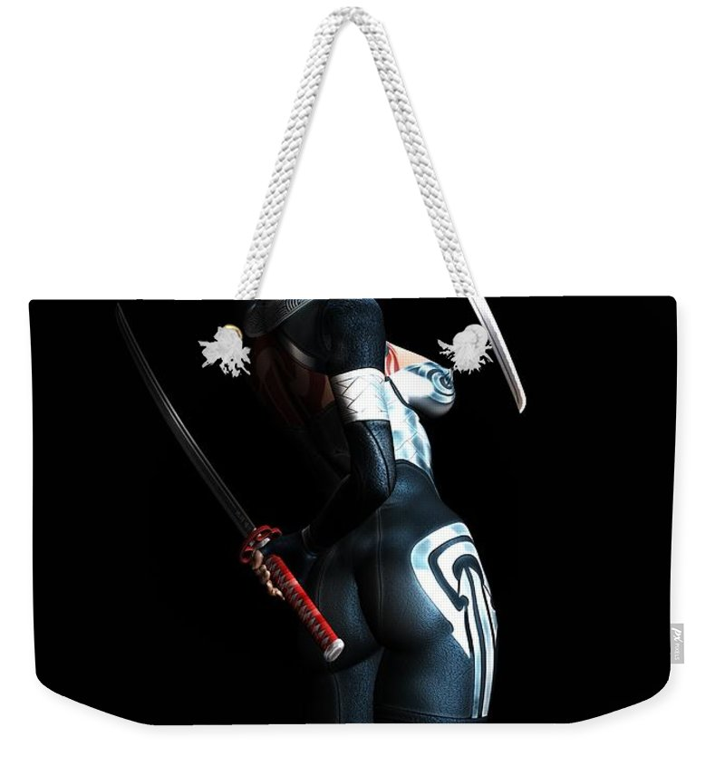 3d Weekender Tote Bag featuring the digital art The Assassin's Code by Alexander Butler