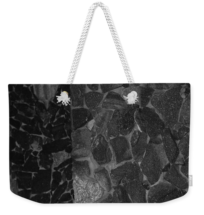 Black And White Weekender Tote Bag featuring the photograph The B And W Wall by Rob Hans