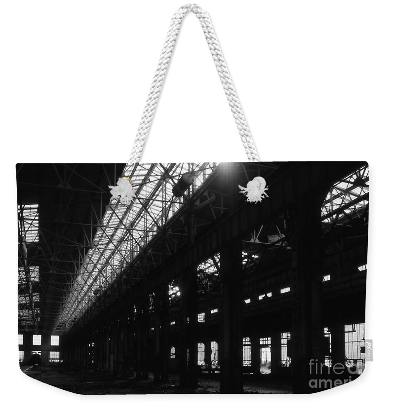 Buildings Weekender Tote Bag featuring the photograph The Back Shop by Richard Rizzo