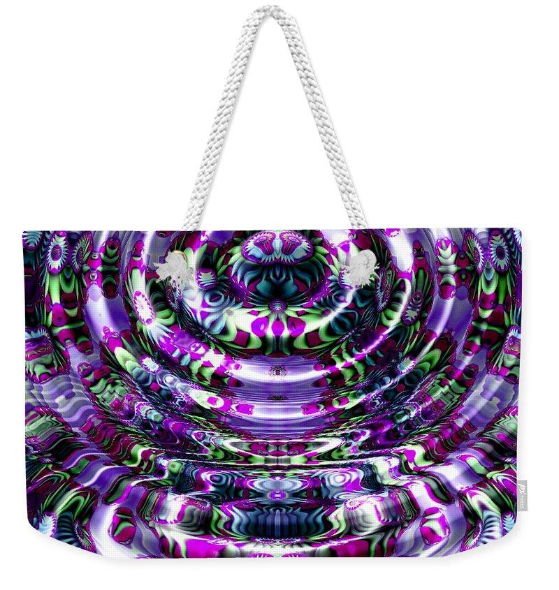 Water Weekender Tote Bag featuring the digital art The Bahamas by Robert Orinski