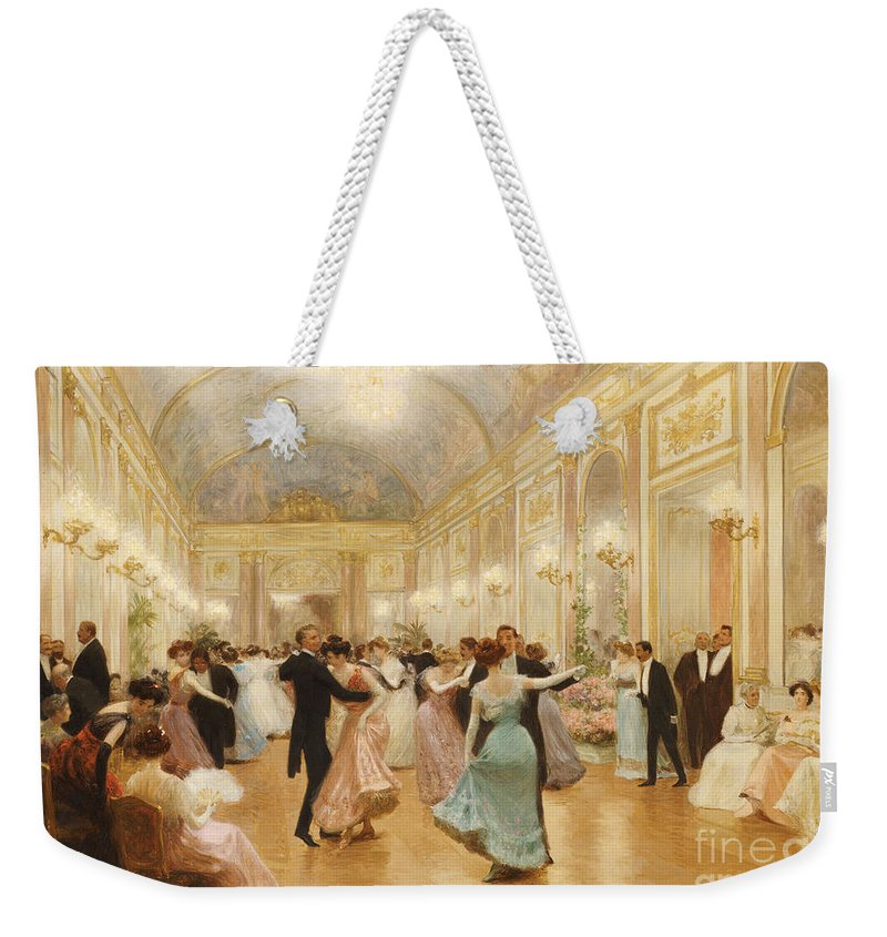 Ball Weekender Tote Bag featuring the painting The Ball by Victor Gabriel Gilbert